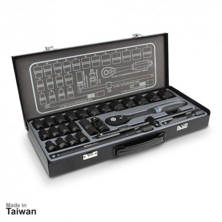 مجموعه 26 عددی آچار بکس 6 پر نووا مدل NTS-7000