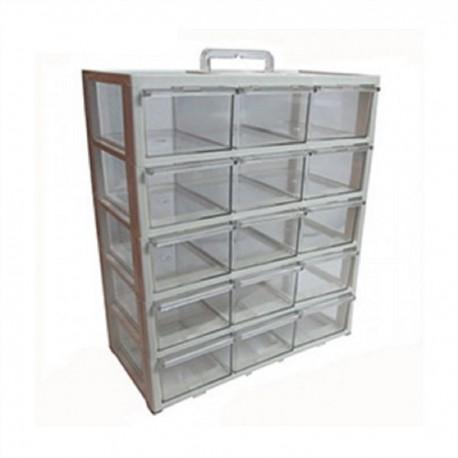 جعبه ابزار اورگانیزر 15 کشو مدل کریستالی
