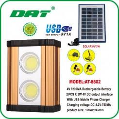 پروژکتور و پاور بانک خورشیدی DAT مدل 8802