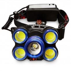 هدلایت و چراغ پیشانی 5 لامپ اسمال سان مدل ROTARY