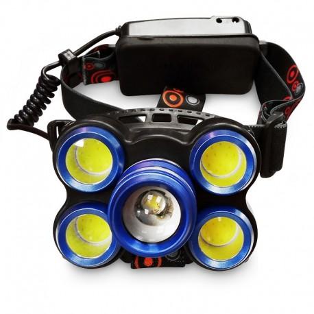 هدلایت چراغ پیشانی 5 لامپ اسمال سان مدل ROTARY